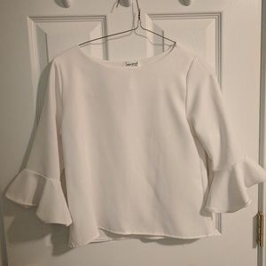 White top bell sleeves